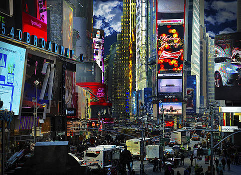 Time Square - Broadway by Donna Betancourt