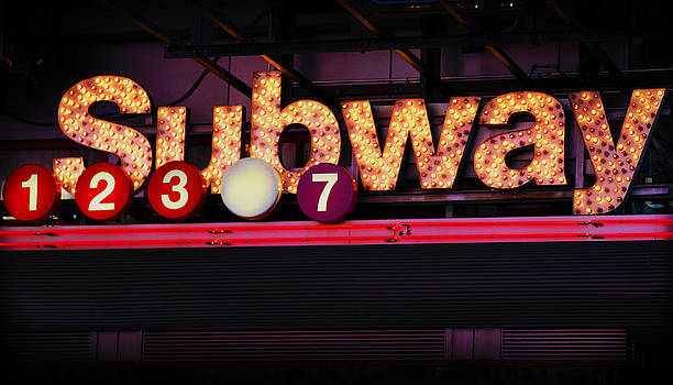 Time Square Subway Sign by Donna Betancourt