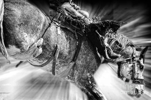 Time to Saddle Bronc 2 by Lincoln Rogers