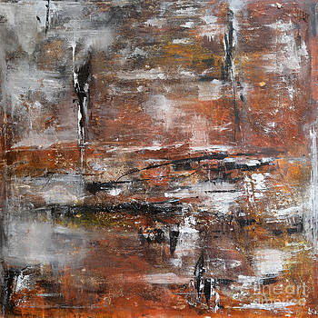 Timeless - Abstract painting by Ismeta Gruenwald