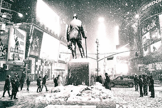 Times Square in the Snow - New York City by Vivienne Gucwa