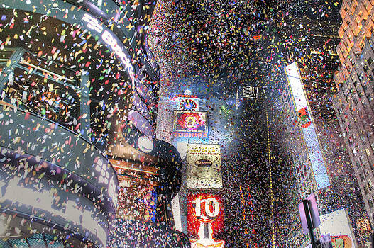 Times Square - New Years  by David Yack