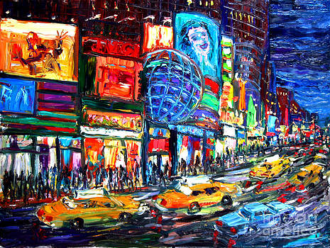 Times Square With Globe by Arthur Robins