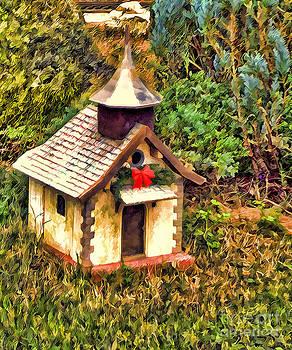Tiny Christmas Cottage by Nora Martinez