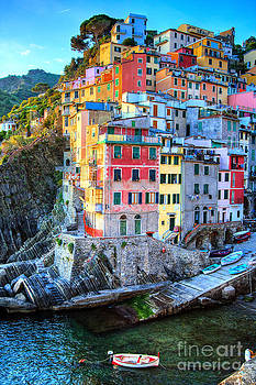 Tiny Village in Riomaggiore Italy by Christy Woodrow