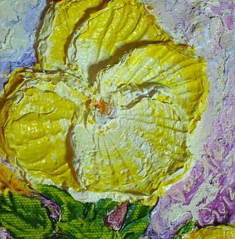 Tiny Yellow Pansy by Paris Wyatt Llanso
