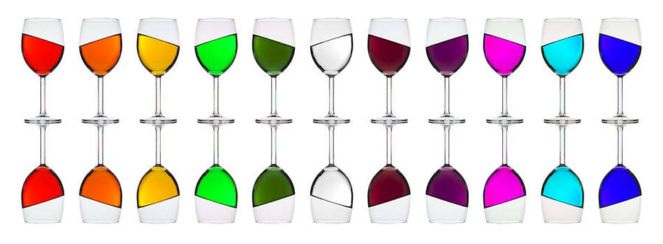 Tipsy rainbow in glasses by Andrew Munro