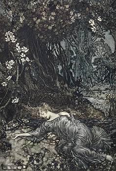 Arthur Rackham - Titania Lying Asleep, Illustration