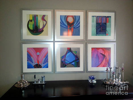 Marlene Burns - TK install prints