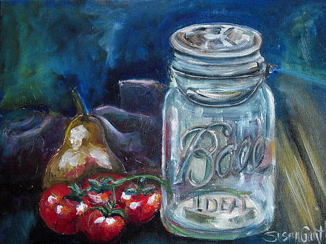 Tomatoes and Jar by Susan Gauthier