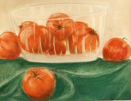 Tomatoes in Bowl by Christine Krantz
