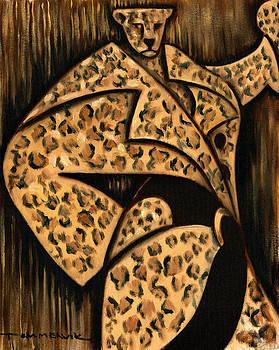 Cheetah Fur Coat Art Print by Tommervik