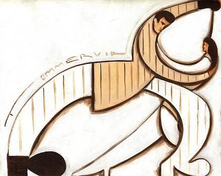 Tommervik Art Deco Dancers Art Print by Tommervik