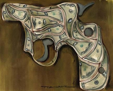 Tommervik cash gun art print by Tommervik