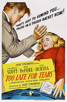 Too Late For Tears, Us Poster Art by Everett