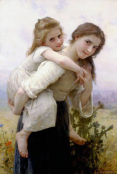 Too much to carry by Bouguereau