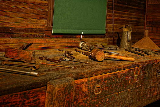 Tools Circa 1800's by Randy  Shellenbarger