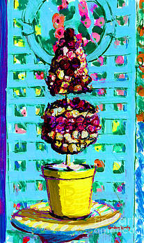 Candace Lovely - Topiary of Dried Roses