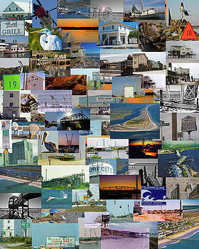 Topsail Island NC Collage  by Betsy Knapp