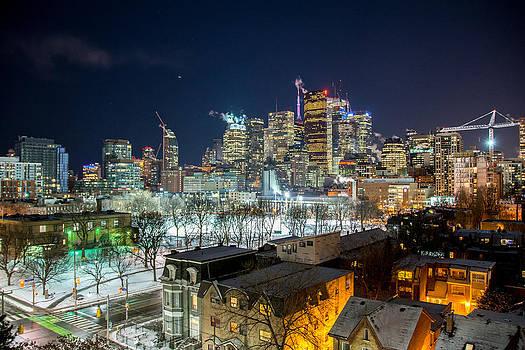 Toronto at night by Jesyka Tower