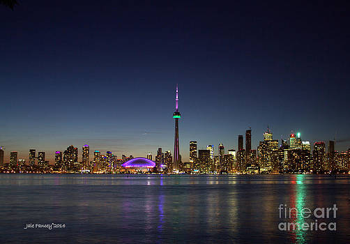 Toronto Skyline Colours by Jale Fancey