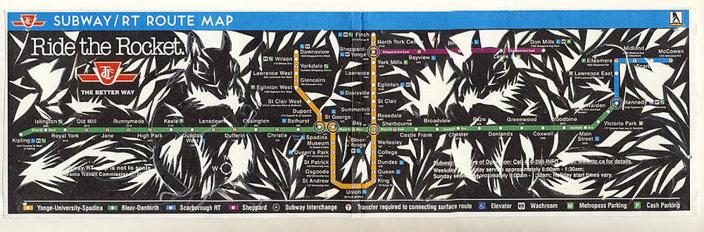 Alfred Ng - toronto subway map squirrels