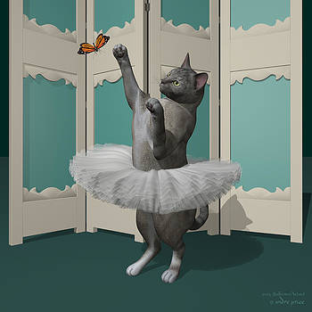 Tortie Oriental Ballet Cat on Paw-te by Alfred Price