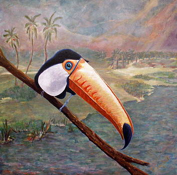Toucan on a Limb by Trish Campbell