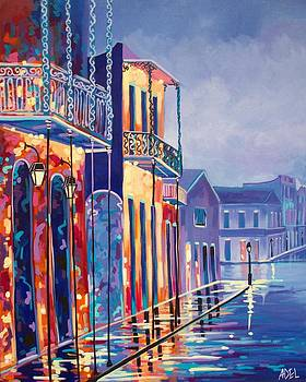 Toulouse at Bourbon New Orleans by Elaine Adel Cummins