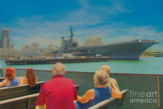San Diego Bay Ferry Tour With The View Of The USS Midway Museum by Claudia Ellis