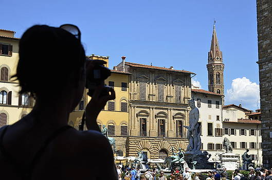 Tourist taking pictures of Florence by Sami Sarkis