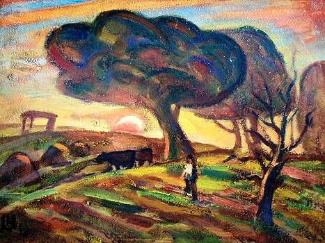 Towards evening by Najmaddin Huseynov