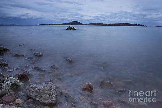 Towards the Summer Isles from Achiltibuie at dusk by Howard Kennedy