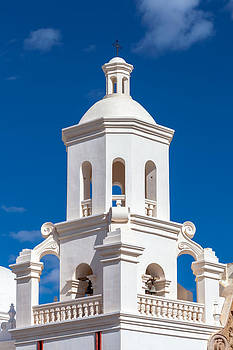 Tower at Mission San Xavier del Bac by Ed Gleichman