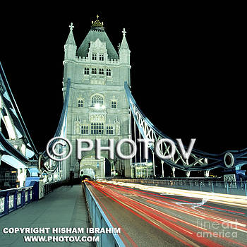 Tower Bridge and traffic at night - London - England by Hisham Ibrahim