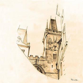 Tower of Mala Strana. Praha by Viacheslav Rogin