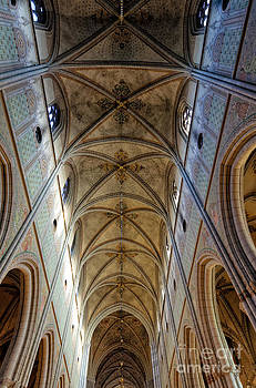 David Hill - Towering art - the painted ceiling above the nave of Uppsala Cathedral - Sweden