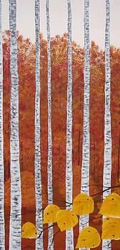 Towering Birches by Brandy Gerber
