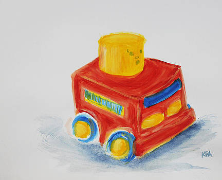 Toy Firetruck by Kristye Addison Dudley