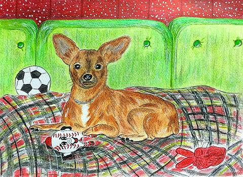 Toy Rat Terrier by Kathy Marrs Chandler