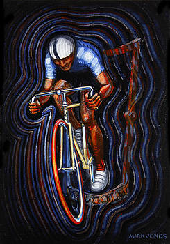 Track Racer Malcolm Cycles 2 by Mark Howard Jones