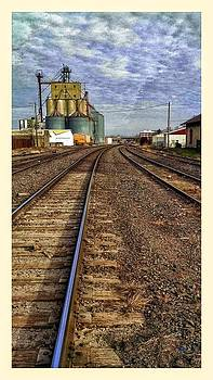 tracks in Atchison looking east. by Dustin Soph