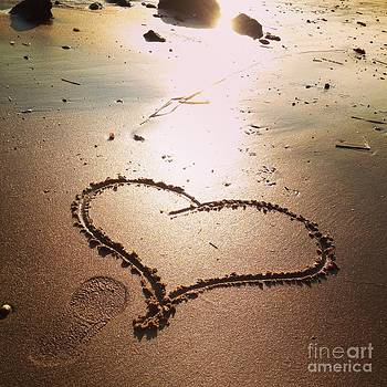Tracks Of Love In The Sand by Stephanie Varner