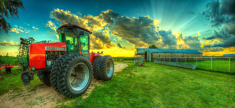 Tractor on the farm by  Caleb McGinn