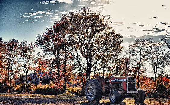 Tractor Out of the Barn by Kelly Reber
