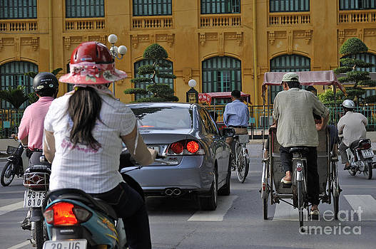 Traffic in downtown Hanoi by Sami Sarkis