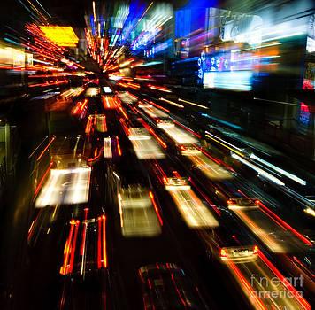 Traffic Lights In Motion Blur by Konstantin Kalishko