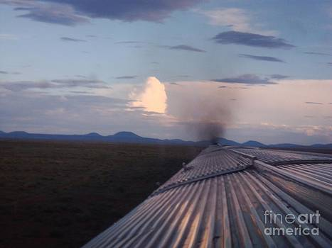 Train and Sky by Catherine DeHart