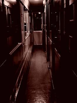 Train at night by Nathalie Hope