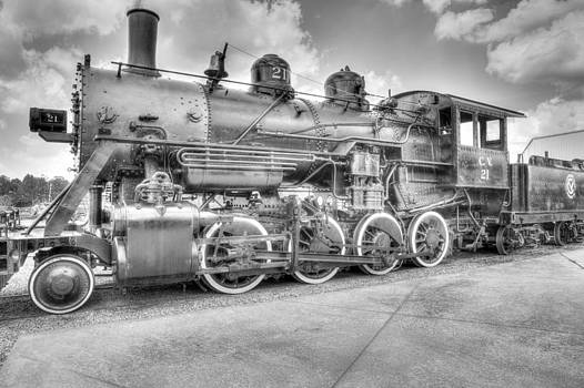 Train Engine of old by Gerald Adams